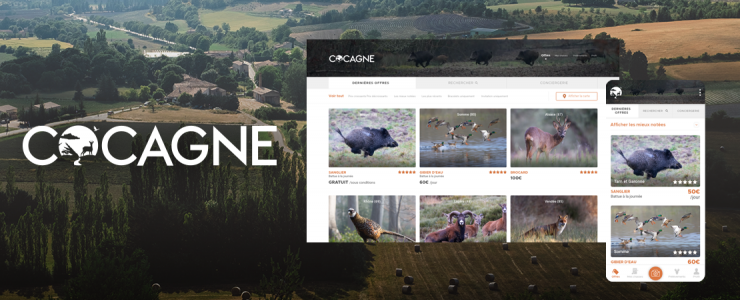 Cocagne, la chasse accessible par une application